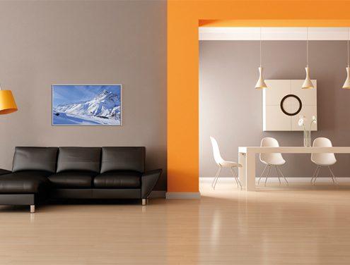 Woonkamer infraroodverwarming