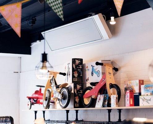 Infraroodverwarming winkel