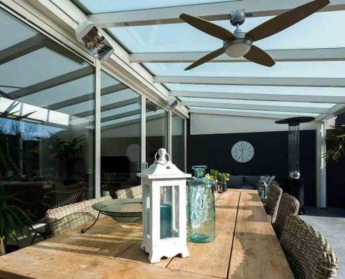 Zonnestroomsysteem en infrarood terrasverwarmens – Woonhuis Boxmeer