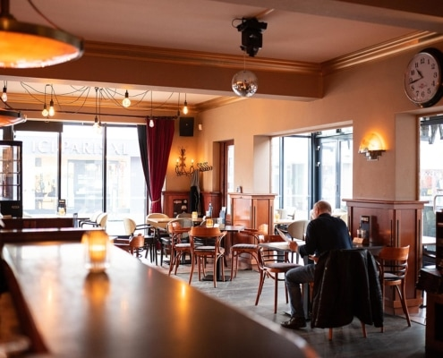 Gasloos verwarmde serre dankzij infrarood heatstrips - Brasserie de Bock, Boxmeer
