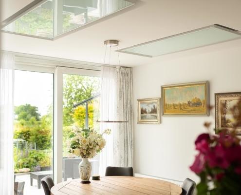 Infraroodpanelen verzonken in keukenplafond - Nederhorst Ten Berg