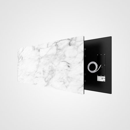 Welltherm foto stone art white marble