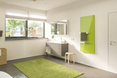 Welltherm Handdoekdroger glas ral-kleur
